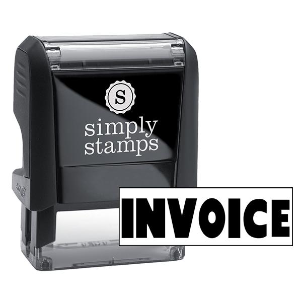 INVOICE Stock Stamp