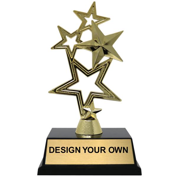 5-Star Gold Award Trophy - 2 sizes