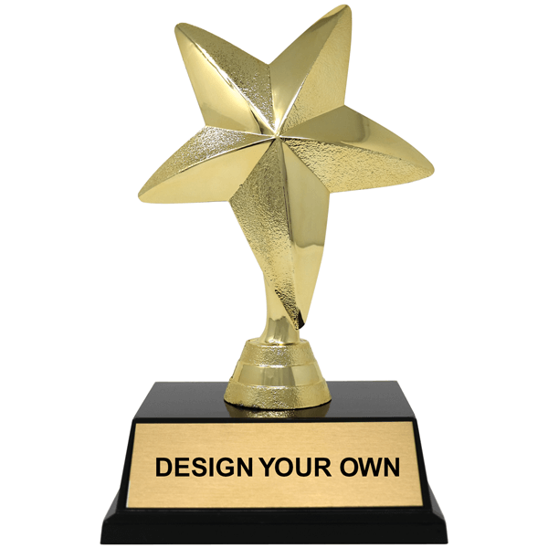 Gold Star Award Trophy - 2 sizes available