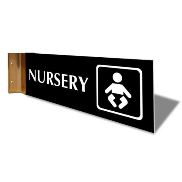 "Nursery Corridor Sign   4"" x 12"""