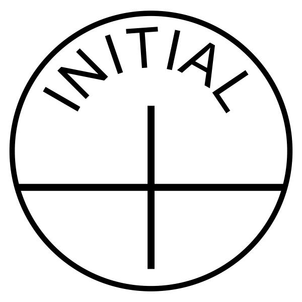 Initial Stock Stamp