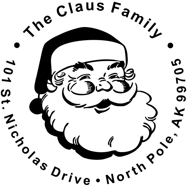 Classic Santa Return Address Stamp