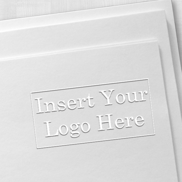 Rectangle Logo Embosser Seal Impression Example