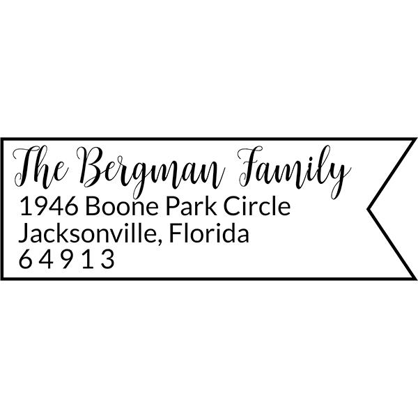 Bergman Fancy Border Address Stamp