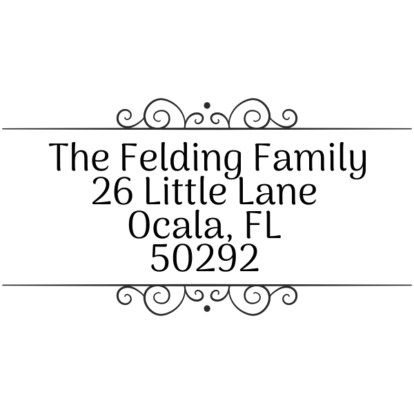 Felding Fancy Border Address Stamp
