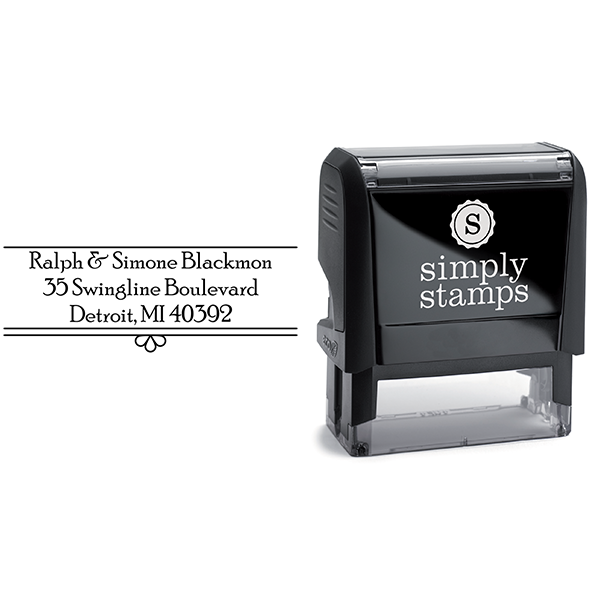 Simone Fancy Border Address Stamp with Stamp Body
