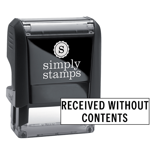 Received Without Content Stock Stamp