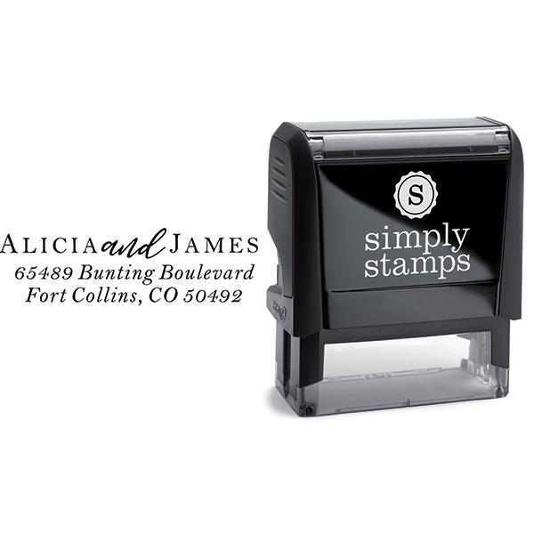 Alicia Return Address Stamp Body and Design