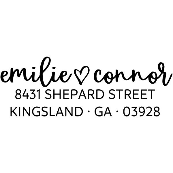 Shepard Script Return Address Stamp