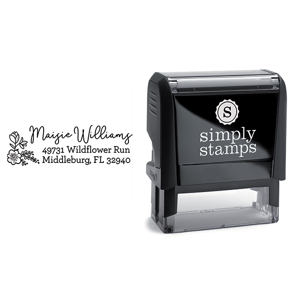 Maisie Floral Address Stamp Body and Design