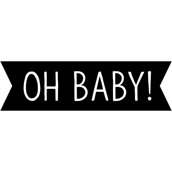 Oh Baby! Banner Craft Stamp