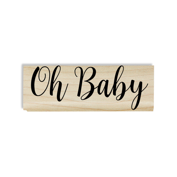 Oh, Baby! Cursive Craft Stamp Body and Design