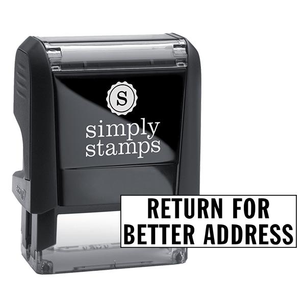 Return For Better Address Stock Stamp