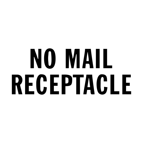 No Mail Receptacle Stock Stamp