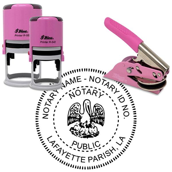 Louisiana Notary Pink - Round Design