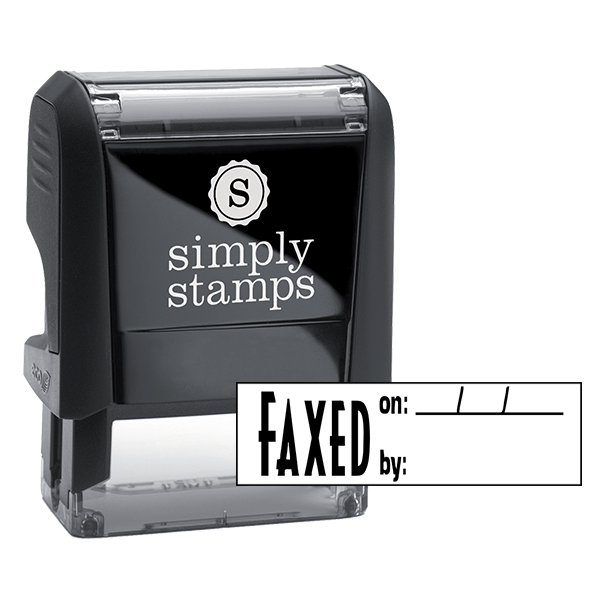 Faxed On/By Stock Stamp