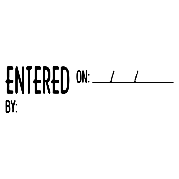 Entered On/By Stock Stamp