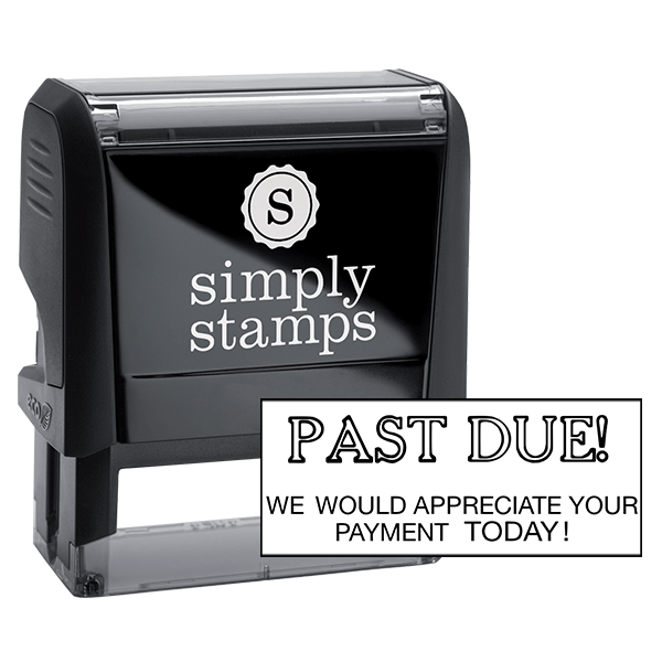Past Due We Would Appreciate Your Payment Today Stock Stamp