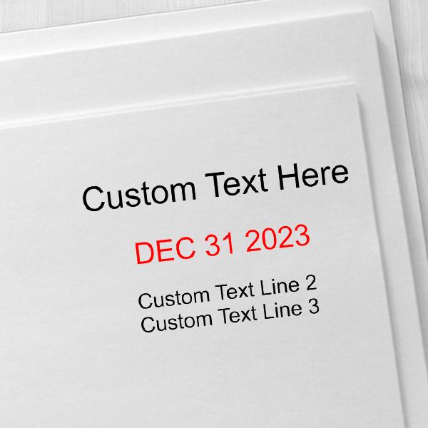 Trodat Dater 5440 with Custom Text Imprint