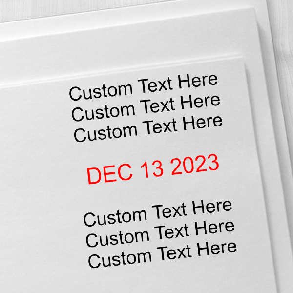 Trodat Dater 4724 with Custom Text Imprint