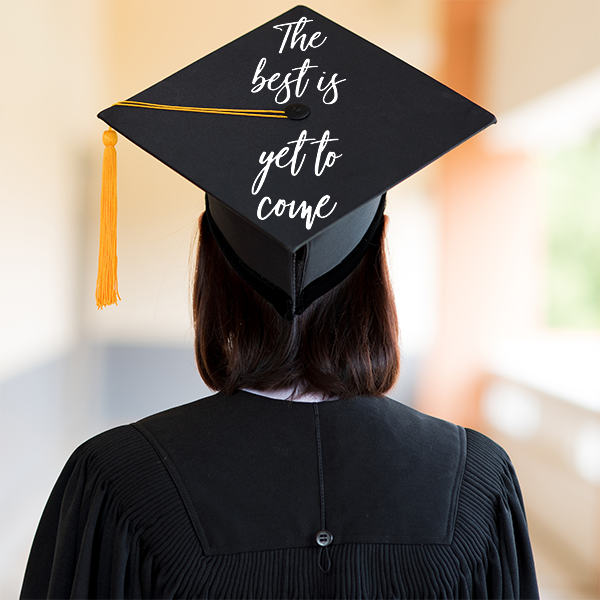 Graduation Cap with Decal