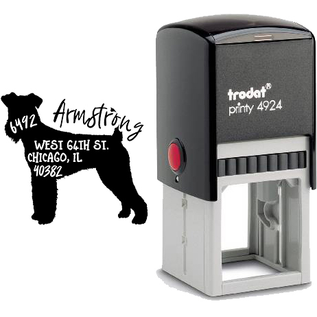 Rubber Stamp Airedale Terrier Ink Stamp Airedale Terrier Lover Dog Stamp Custom Stamp