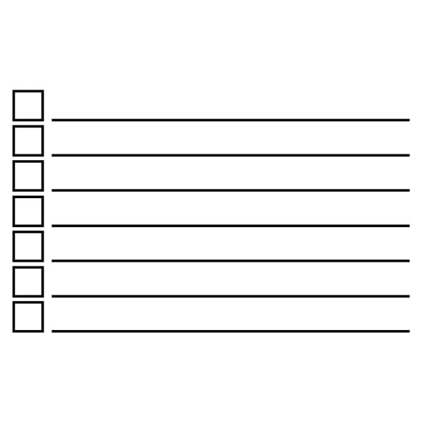 7 Line Checkbox Rubber Stamp Imprint