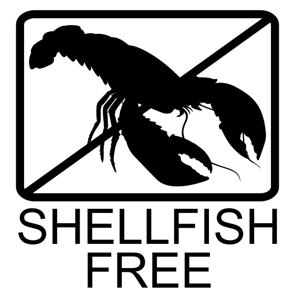 Shellfish Free Allergy Alert Stamp Imprint