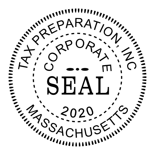 Corporate Seal Stamp with Year - Stamp Imprint