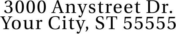 Serif Custom 2 Line Address Stamp Imprint