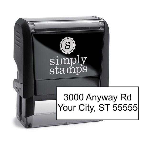 2 Line Address Stamp