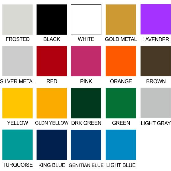Cut Vinyl Colors