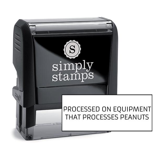Processed On Equipment Custom Stamp