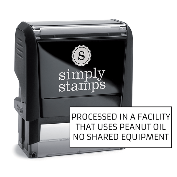 Processed In Facility No Shared Equipment Custom Stamp