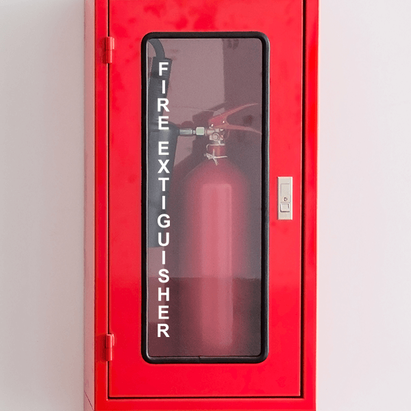 "Vertical Fire Extinguisher Cut Vinyl Decal | 12"" x 1"""