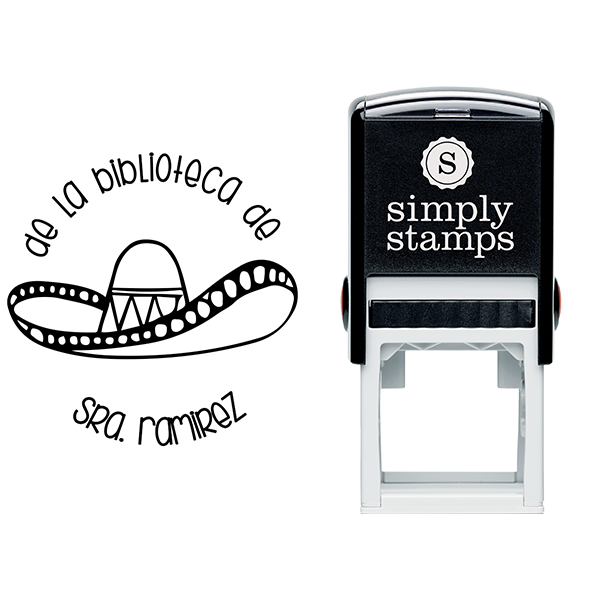 Spanish Library Teacher Stamp Body and Design
