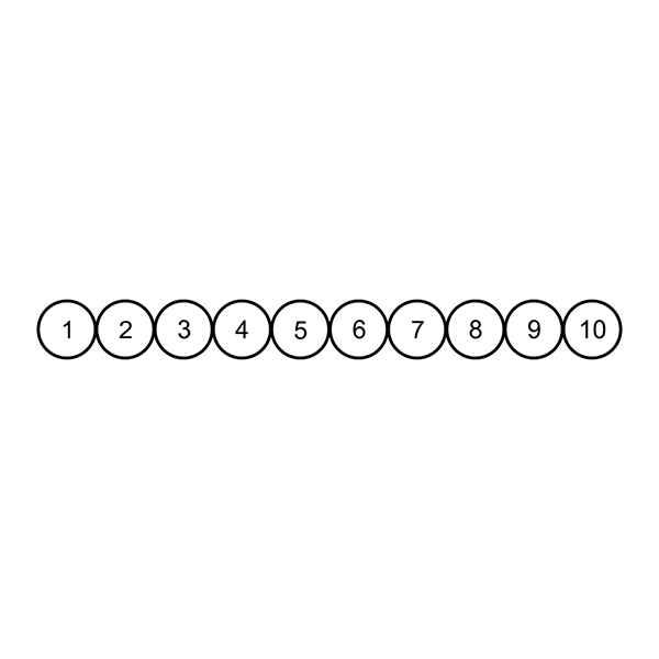 Circles for Card Loyalty Stamp Imprint
