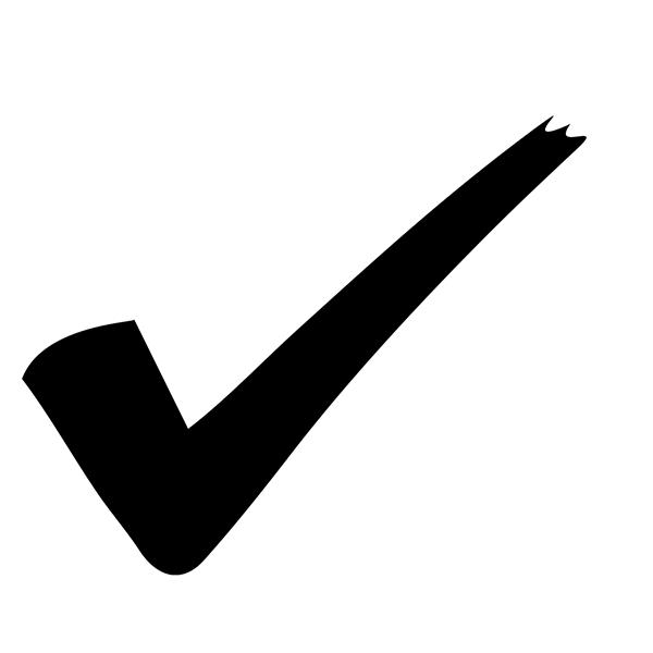 Check Mark Loyalty Stamp Imprint