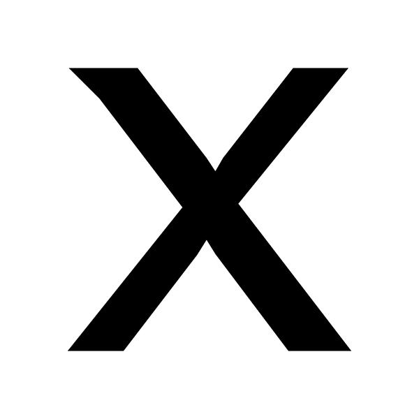 X Cross Loyalty Stamp Imprint