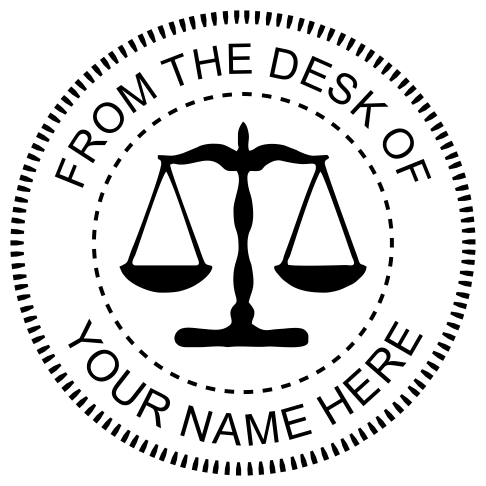 From The Desk of Seal with Scales of Justice design