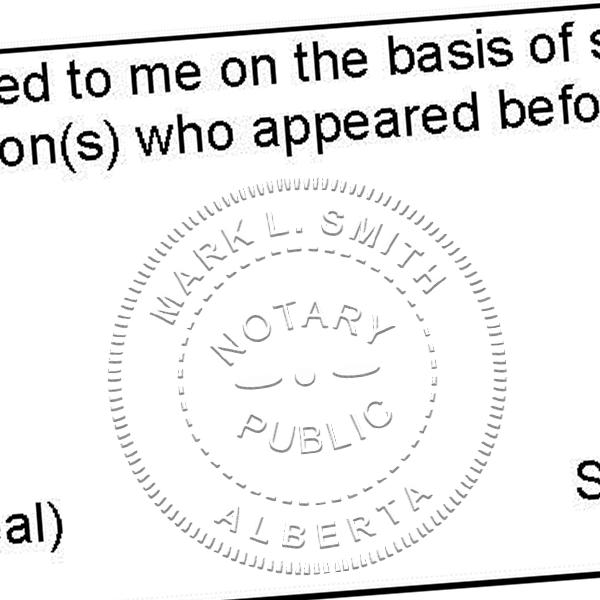 Alberta Canada Notary Public Seal Stamp Imprint