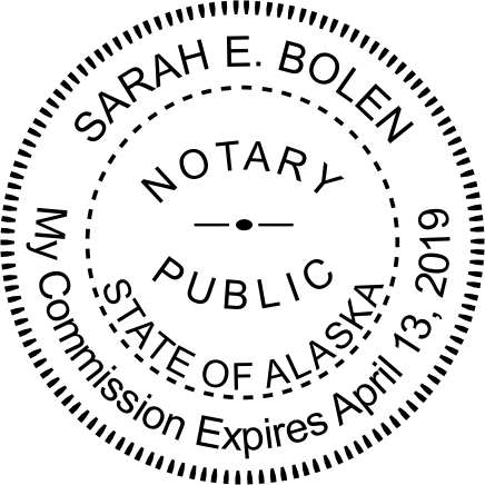 Alaska Notary Round Seal Imprint