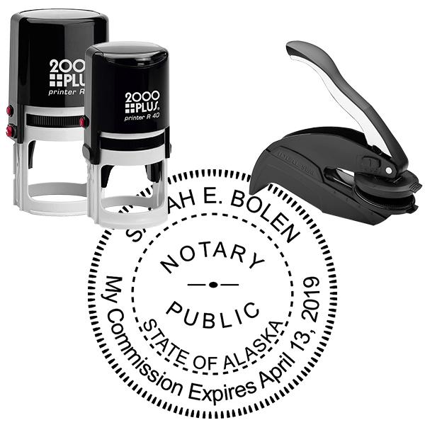 Alaska Notary Round Seal