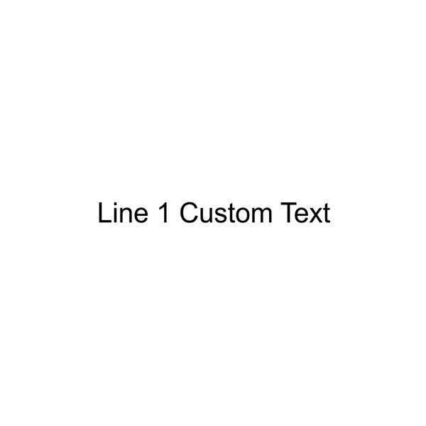 1 Line Custom Wood Handle Stamp Imprint