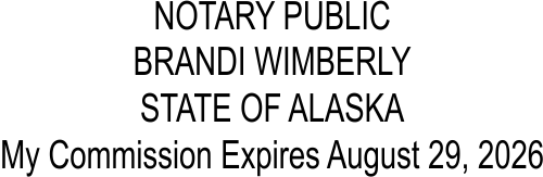 Alaska Notary Seal Stamp