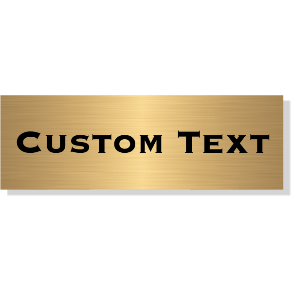 "Single Line Custom Text Brass Plate | 2"" x 6"""