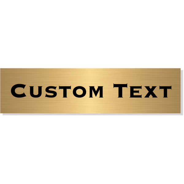 "Single Line Custom Text Brass Plate   2"" x 8"""