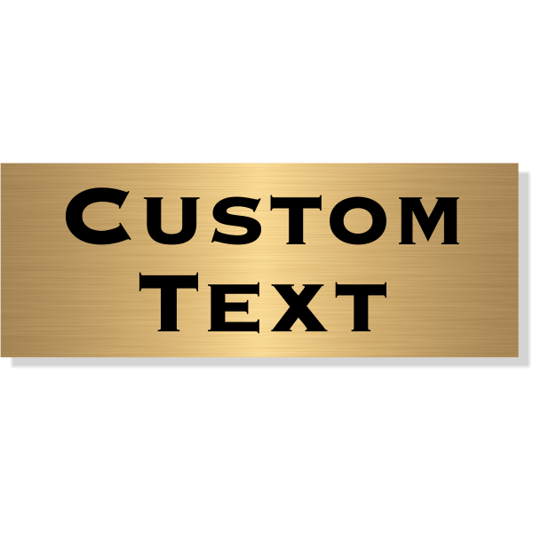 "Double Line Custom Text Brass Plate | 3"" x 8"""