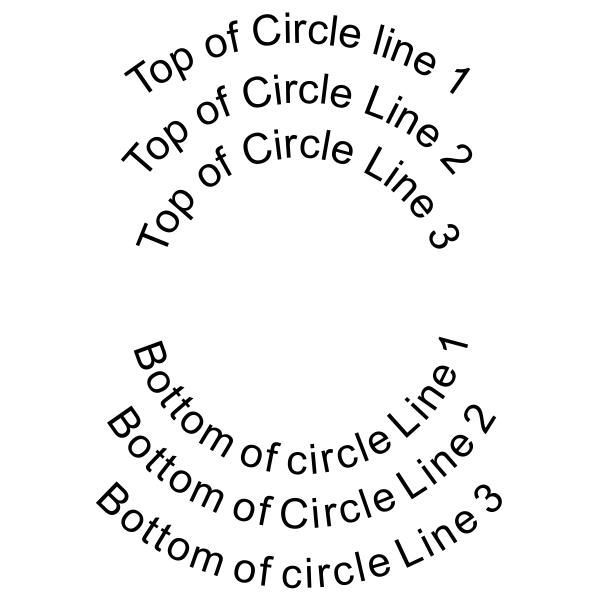 6 Line Round Self Inking Stamp Imprint