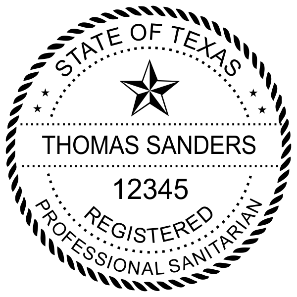 State of Texas Sanitarian Seal